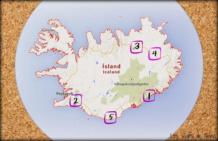 mapa atractivos de islandia los viajes de nena