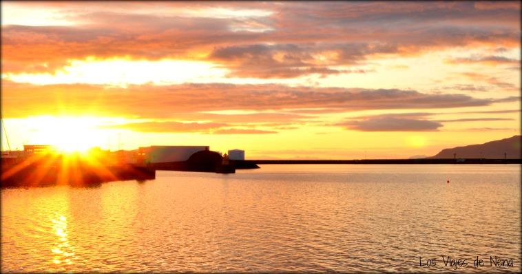 sol de medianoche reykjavik islandia