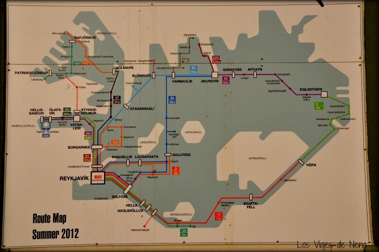 Un buen mapa es esencial para poder viajar a Islandia