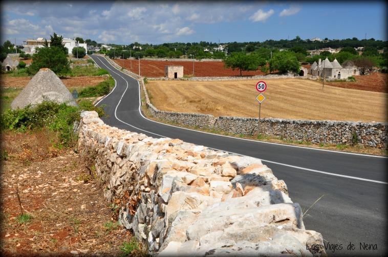 Esta es la ruta del Valle d'Itria, donde vi por primera vez los trullis.