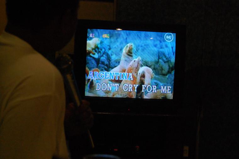 Y explicame, ya que estamos, qué tienen que ver esos lobos marinos. ¿Es Evita en Puerto Madryn?