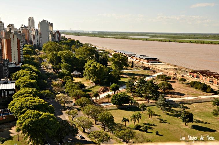 Una de las cosas que más me gusta es que Rosario mira de frente al Río Paraná.