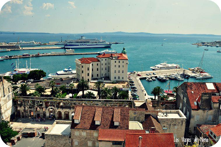 Uno de los puertos de Split.