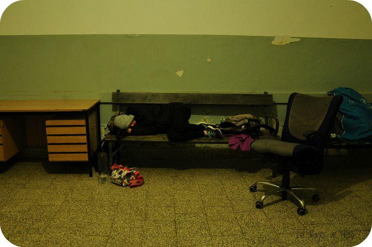 También a dormir en lugares como este...