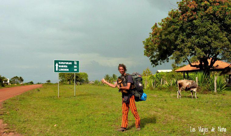 En Guyana también hicimos dedo