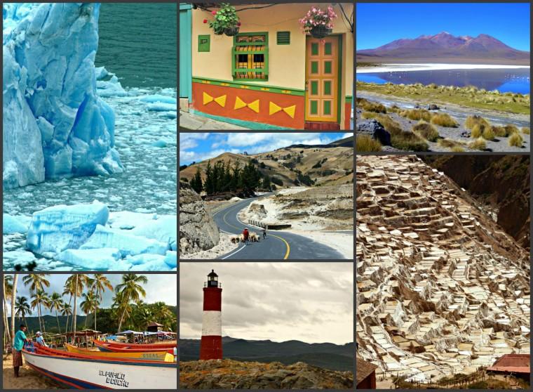 Algunos de los lugares a donde llegamos en este viaje