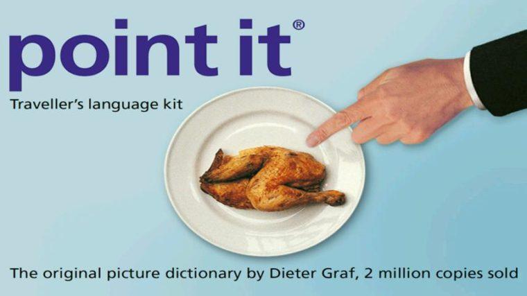 Point it es un diccionario visual que ayuda a salir del apuro si no se saben los  mejores idiomas para viajar.