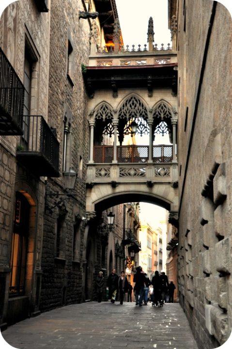 Vistas del Barrio Gótico, uno de los puntos en Barcelona en un día
