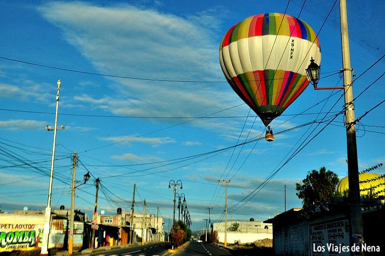 viajar en globo aerostatico en Teotihuacán
