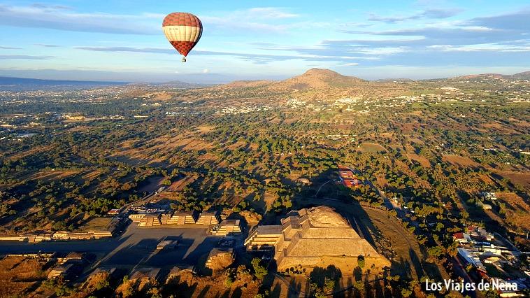 volar en globo aerostático Teotihuacán