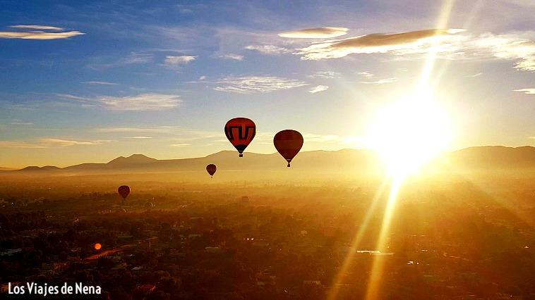 volar en globo Teotihuacan