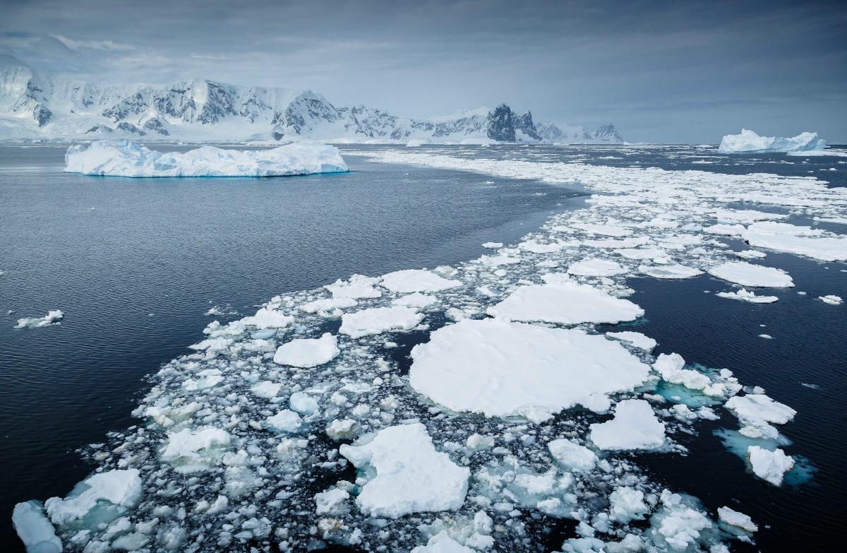 Paisaje de Antártida.