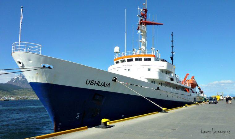 El barco en el que finalmente íbamos a viajar a la Antártida