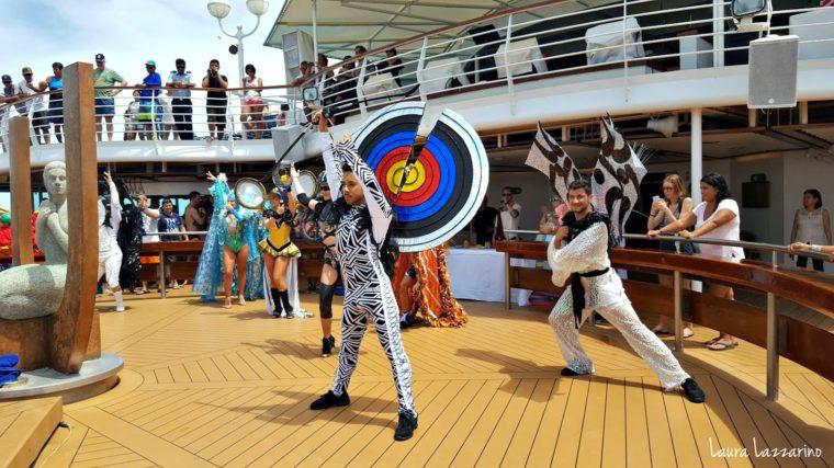 En un crucero transatlántico hay entretenimiento de todo tipo.